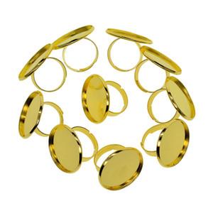 10x Apreciação base do anel de Blanks anel ajustável para 25 milímetros Cabochão