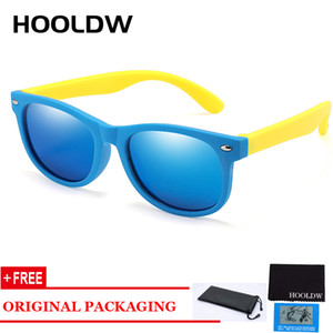 HOOLDW Çocuk Güneş Çocuk Polarize Güneş Gözlükleri TR90 Erkekler Kızlar Silikon Esnek Gözlük Bebek UV400 Gözlük oculos de sol