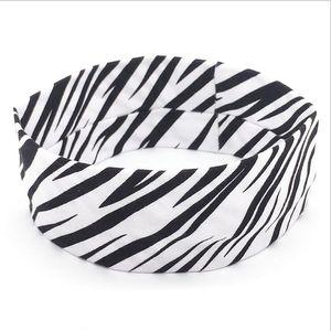 sport signora testa yoga banda zebra treccia banda di europei e americani capelli antitraspirante esecuzione cotone elasticizzato all'ingrosso fascia per capelli fascia