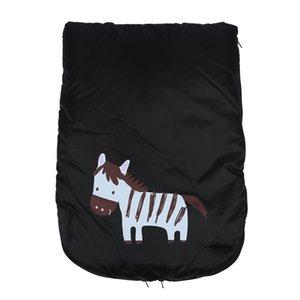 Hot Universal Windproof infantil Baby Stroller dormir assento Bag footmuff Car Bunting Bag Stroller Carriage Pé Cover (Black)