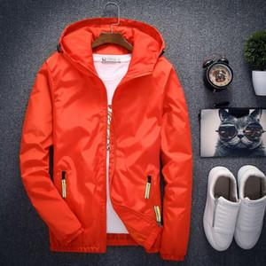 Velocidade pedestrianismo Moda Jacket Men Primavera Outono Brasão Sólidos Masculino Fora Jacket Plus Size M -7xl Casual Jaqueta Masculina respirável