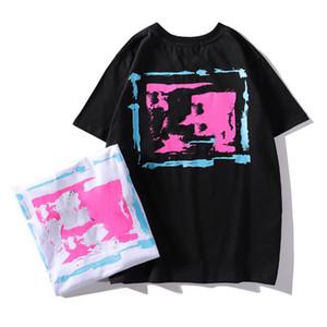 Mens Fashion Marca Triângulo Imprimir Carta de impressão t-shirts Verão Hot Vender algodão de manga curta Tee Masculino Tops