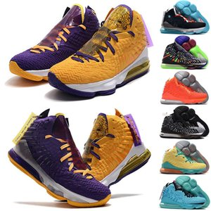 2020 Nouvelle haute qualité fantôme Ashes Lebron 17 Chaussures de basket en plein air Arrivée Sneakers 17s 17s Hommes Roi chaussures de sport