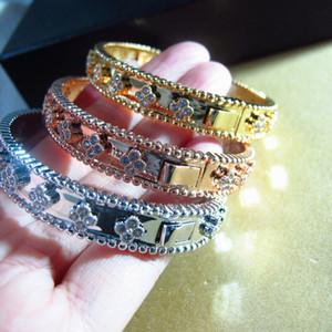 Atacado 2018 O Oriente médio Nova Moda CZ diamante pulseira pulseira banhado a ouro 18 K bangle Copper party jóias para as mulheres