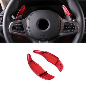 Car Accessories Steering Wheel Shift Paddle Pad Trim Sticker Cover Frame Interior Decoration for BMW 5 Series G30 2017-2020