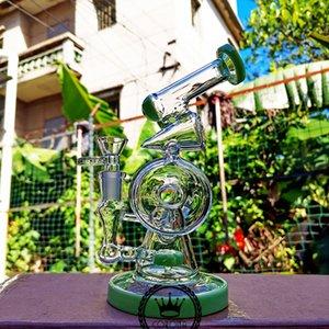 Kuş kafesi Duş Perc cam su borusu kolu ağaç tetikçisi pembe recyler bonglar mor yeşil mavi siyah cam su borusu
