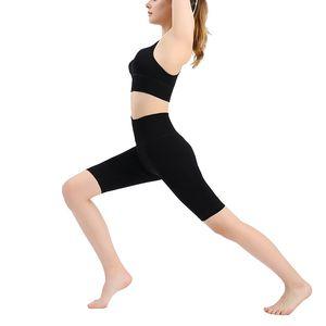 Yüksek Bel Kadınlar Kayma Şort Orta Uyluk Legging Artı boyutu undershorts Flat Kısa Leggings Sweat emdirin