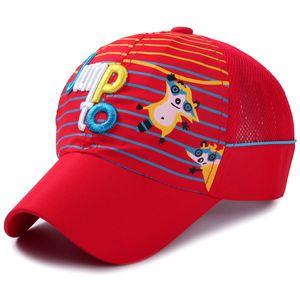 Verão Quick Dry Cap Líquido para a Raposa Animal Animal Imprimindo Esportes Chapéu Bordado Carta Bonés de Beisebol Leve para Crianças
