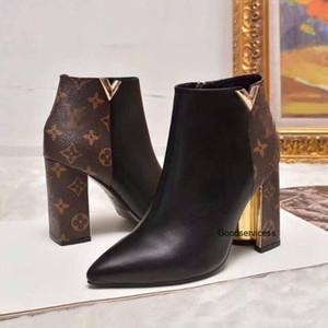 Retro Ultra Leather Botas das sapatas das mulheres Melhores Qaulitys botas para senhoras Outono-Inverno Botas Com Box Plus Size Real Photo