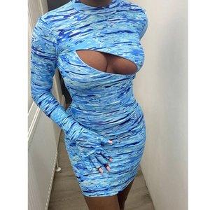 Sexy scava fuori vestiti delle donne della tintura del legame del progettista donne alla moda Gonna Casual Popolare Femminile Abiti Estate