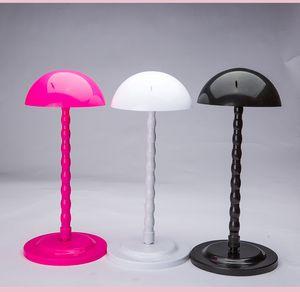 3 цвета Профессионального Mushroom Top Folding Пластикового парик волосы Hat Cap Holder Stand Поддержка дисплей выдвижение волосы инструмент парики Фен