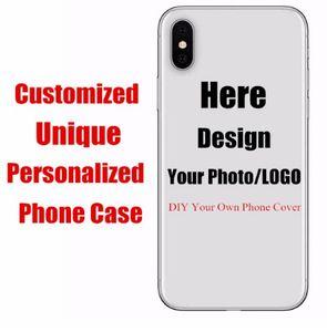 Funda de teléfono personalizada con logotipo Fundas de iphone personalizadas para 6 7 xr xs max Samsung Galaxy S6 S7 Edge S8 S9 Plus DIY Case