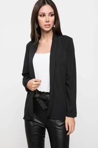DeFacto Mulheres Moda Lapel Collar Casual Jacket Mulheres Pure Color simples terno revestimento do outono Novo- K0598AZ18AU