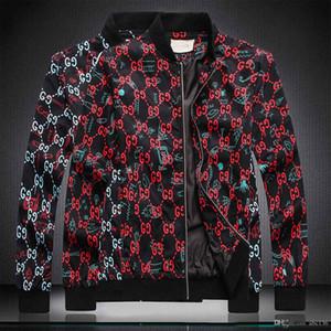 Rivestimento del motociclo del rivestimento degli uomini di modo di inverno di autunno del progettista di marca risvolto Slim uomini maniche Long Loco Jacket Zipper Moda Uomo Casual
