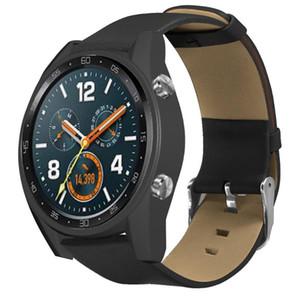 Верхний слой кожаный ремешок для Huawei Watch GT Ticwatch Pro ремешок наручные цепь браслет Смарт