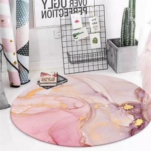Wishstar Rodada Rosa Area Rug Por Quarto Nordic estilo do tapete Gril cabeceira tapetes anti-derrapante esteira cadeira macia Círculo Tapete