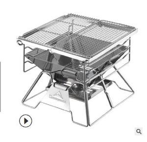 2020 горячей продажи Утолщенные нержавеющей стали для барбекю на открытом воздухе бытовой портативный складной барбекю рама уголь печь