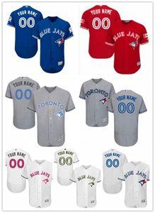 la nave libera personalizzato qualsiasi numero nome baseball Jersey Toronto Blue Jays di usura di baseball maglie uomini donne giovani