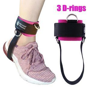 1PCS3-D 링 피트니스 스트랩 체육관 케이블 기계 무게 허벅지 운동을 강화 둔부 네오프렌딩 금속 Ankle 소매
