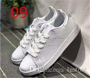 2018 VENDA QUENTE Original Stan Smith Sapatos Mulheres Homens Sapatilhas De Couro Casuais Superstars Skate Branco Azul sapatos Stan Smith LUBOSS