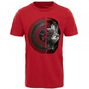 Punk estilo de la camiseta para los hombres camiseta Marvel Capitán América 3D Ironman imprimir arriba Tee Shirts Guerra Civil divididos caemos Ropa para Hombre