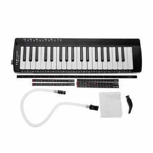 Swan 37 Keys Teaching Performing Melodica Mouth Organ Black Pink Blue Colors Keyboard Musical Instruments Melodicas In BagSwan 37 Keys Teach