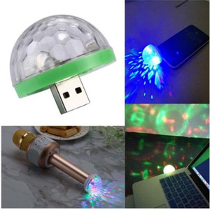 USB Laser Luz Mini RGB LED Disco Ball Forma Stage Efeito conveniente para Party Club DJ Luz Mobile Phone PC Power Bank