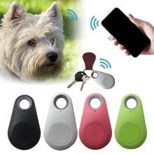 'Su Çocuklar İzleyiciler Ekipmanları Locator Pet Köpek Kedi Tuşlar Cüzdan Çanta Kanıtı D için Evcil Akıllı Mini GPS Tracker Anti-Kayıp Bluetooth Tracer