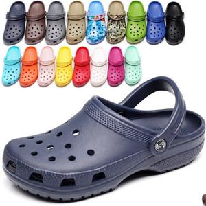 2020 RYAMAG Beleg auf beiläufige Garten Clogs Wasserdichte Schuhe Frauen klassische Nursing Clogs Krankenhaus Frauen Arbeit Medical Sandalen T200524