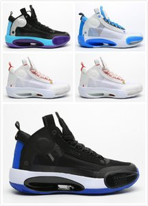 jumpman XXXIV 34 Blue Kids Basketball Shoes 34s Eclipse Bred Amber Rise PE Green Glow Metallic Silver Mens Sports Sneakers