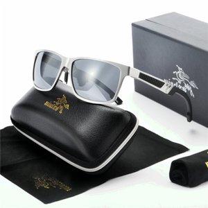 Vintage Aluminum Magnesium Square Sun glass Men Polarized Sunglasses Shades Brand Designer Male Square Eyewear FML