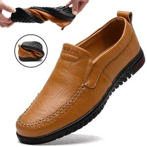 2019 Yaz Erkek giyim İngiltere Moda Günlük Bezelye Erkekler Four Seasons Trend Lazy Ayak Örtü Sürüş Ayakkabı Artı-boy