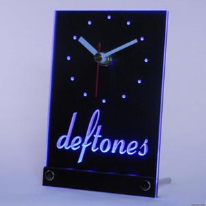 Atacado-tnc0036 Deftones Punk Muisc Table Beer Bar Desk 3D LED Clock