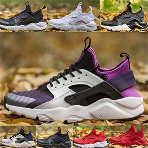 2020 Huarache 4.0 1.0 Running Shoes Mens Womens triple White black red Rose Huraches Breathe Athletic Sports Sneakers trainers S