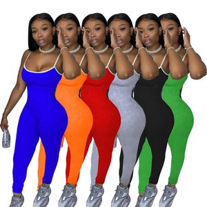 Moda Casual Jumpsuits Womens Sexy Curto Suspender Calças Jumpsuit Macacão Bodysuit Plus Size Women Onesies Verão Estilo S-XXL LY105