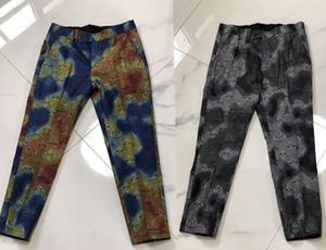 20ss İtalya pantolon paris harfler 3D Isı şerit baskı giysi Suit pantolon Erkekler Kadınlar gerçek Yeni Fermuar Fly Polyester mens