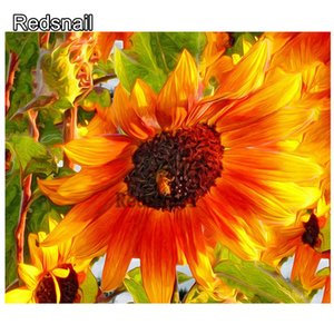 5d diy Full Square drill Diamond painting Blooming Sunflower Cross stitch Rhinestone Diamond embroidery Mosaic home decor TT285