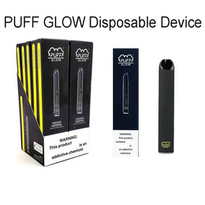 PUFF BAR Glow Disposable Vape Pen Pods Pre-filled Electronics Starter Kit 280mAh Battery 1.4ml Pod Vape Kit with Security Code LED Light