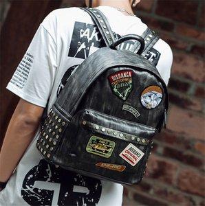 Designer Backpack Men Rivet Applique Simple Handsome School Bags Backpacks PH-CFY20051119