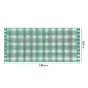 Unidade elétrica 10 cm x 22 cm Dupla Face Placa de Teste Placa de Teste De Circuito Impresso PCB para Arduino Diy Eletrônico