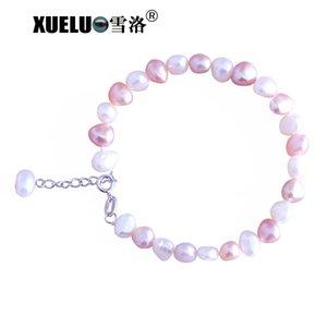 XUELUO Lovely Fashion naturelle d'eau douce baroque Bracelet Cultured perle pour les femmes avec extension