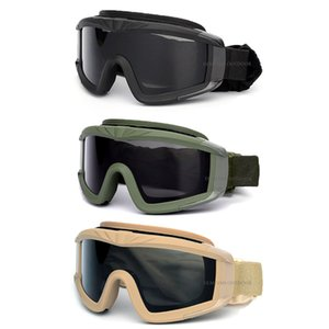 Outdoor Tactical Goggles CS War Games Hunting Shooting Airsoft Glasses Tactical Men Women Anti-UV Windproof Paintball Goggles