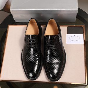 2020 Designer Saffiano Leather Oxford Shoes Designer High Quality Handmade Leather Shoes Fashionable Comfortable Wild Size 38-45