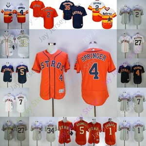 Discount Jersey Houston 2 Alex Bregman 4 George Springer 5 Jeff Bagwell 7 Craig Biggio