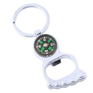 Outdoor Compass Bottle Opener with Metal Key Ring Chain Metal Wine Beer Bottle Openers Bar Tool Key Chain Gift KKA7923