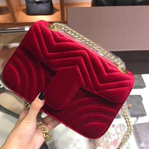 Designer-Marmont velvet bags handbags women famous brands shoulder bag Sylvie designer luxury handbags purses chain fashion crossbody bag