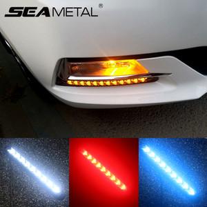 LED Araç DRL 12V Gündüz Sinyal Lambaları Evrensel Su geçirmez Gün Işığı Lambası Bright Light Meclisi çevirin Torna Işıklar Otomatik Çalıştırma