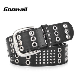 Goowail 2019 fashion brand luxury high quality belts for women rivet punk style female cintos ceinture for jeans