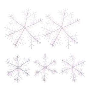 Artificielle 11-22cm plastique blanc de l'arbre de Noël Décorations de Noël Décorations Flocons de neige pour la maison Navidad 2018