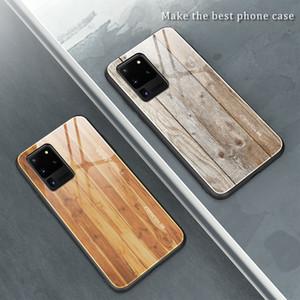 لسامسونج S20 زائد فاخر جدا الخشب الحبوب الهاتف القضية لSAM S9S10 زائد S10E لينة TPU حافة سليم غطاء زجاجي CaseCoque شل